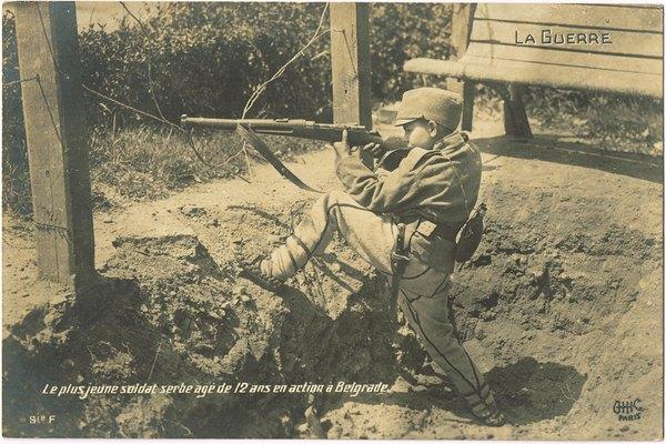 самый юный сербский солдат 12 лет