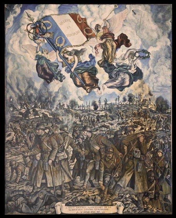 Фреска во славу ИЛ 20 в Александр Зиновьев 1889 1977 Муз армии