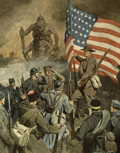 Алегория на вступление СШа в войну 1917 А Бельтраме BPK