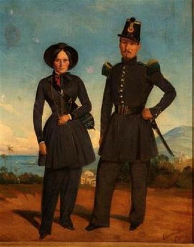 солдат и маркитантка пеших алж стрелков ок 1845 эдуар Моро