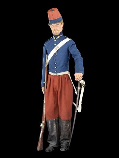 солдат 4 полка афр стрелков 1842 поход форма