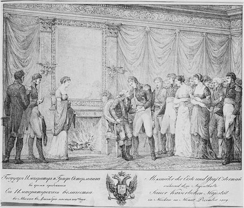 Alexandre 1809 Встреча Ал и графа Остермана в Москве в дек 1809 Эстамп Версаль