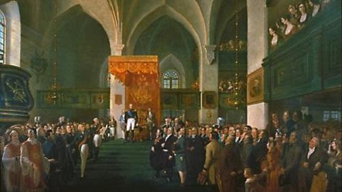 Alexandre 1809 Царь Ал 1 открывает сейм в Порвоо Р В Экман 1858 вроде