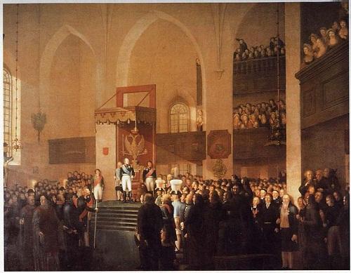 Alexandre 1809 Царь Ал 1 открывает сейм в Порвоо