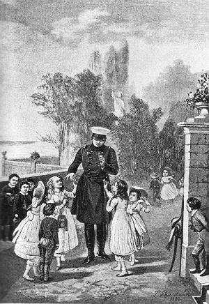 Alexandre Прогулка имп Александра на Брюлевской террасе в Дрездене 1880 гр Вильевальде