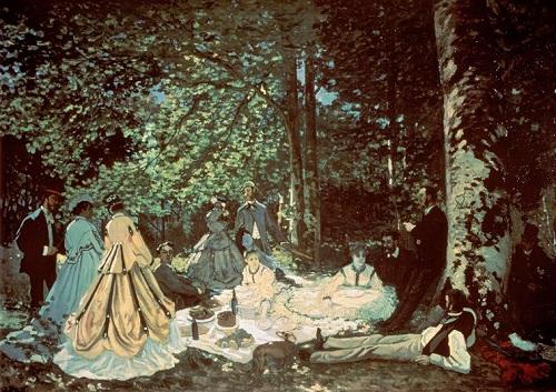 Завтрак на траве 1865 К Моне ГМИ