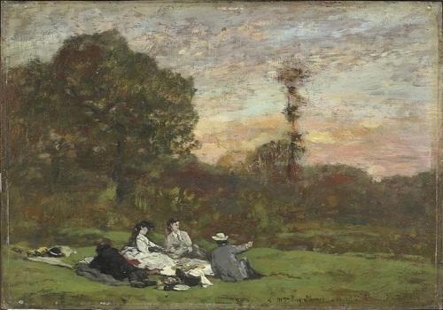 Завтрак на траве 1866 Л-Э Буден Орсе