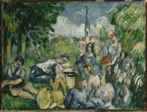 Завтрак на траве 1876-1877 сезанн