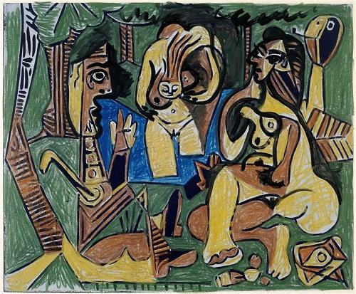 Завтрак на траве по ор Мане 13 02 62 Пикассо Музей Пик в Париже