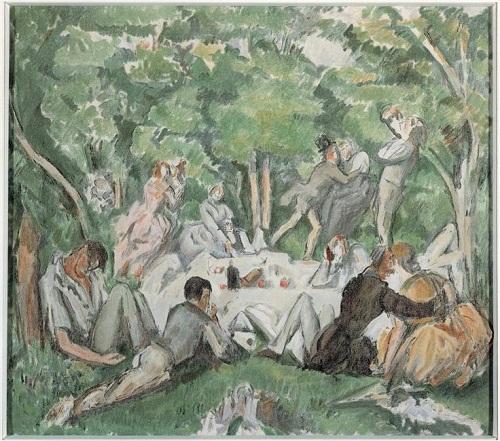 Завтрак на траве по ор Сезанна 1906 О Кло Музей Пикардии