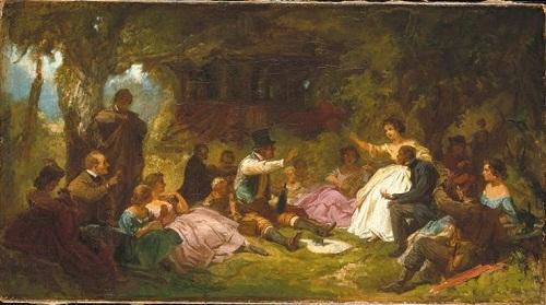 Завтрак на траве ок 1863  1864 К Шпицвег Баварск нов пинак2