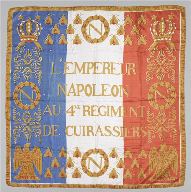 Платок Знамя 4 кирассирского полка 20 в Мальмезон