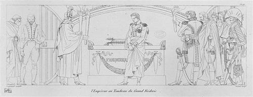 Наполеон Император у могилы Фридриха Вел 1811 гр Жоран ор Фрагонар музей Армии Париж.jpg