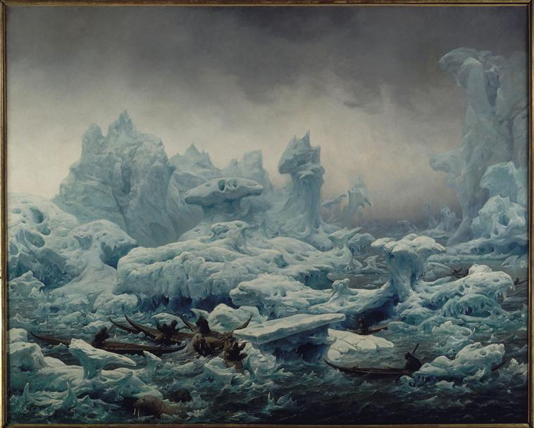 Ледчной окенан Грен охотники за моржами 1841.jpg