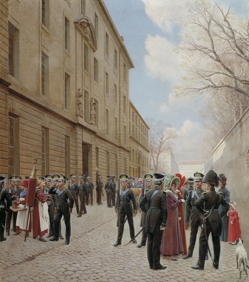 Гвардейский экипаж в Париже в 1814 Розен 1911 2.jpg