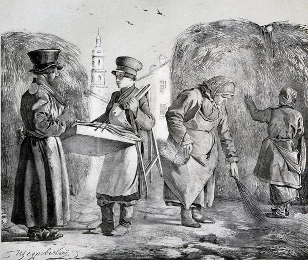Дворник и лотошник. 1841 щедровский Эрмитаж.jpg