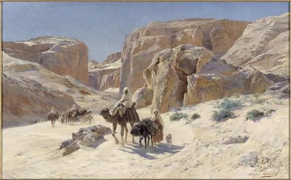 Караван в дюнах Бу саады 1895 Э А Жирарде Нант муз иск.jpg
