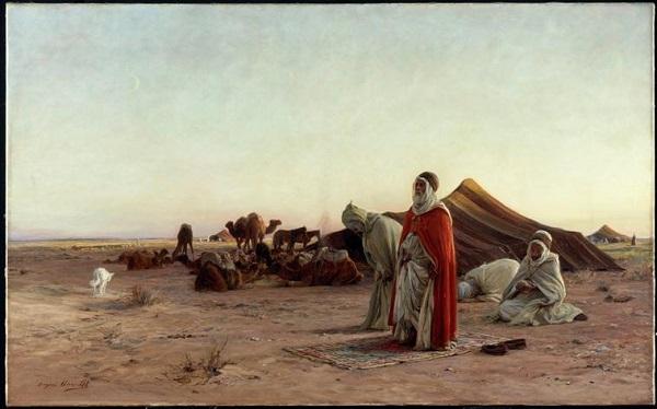 Молитва в пустыни 18 в Э А Жирарде Байонна.jpg