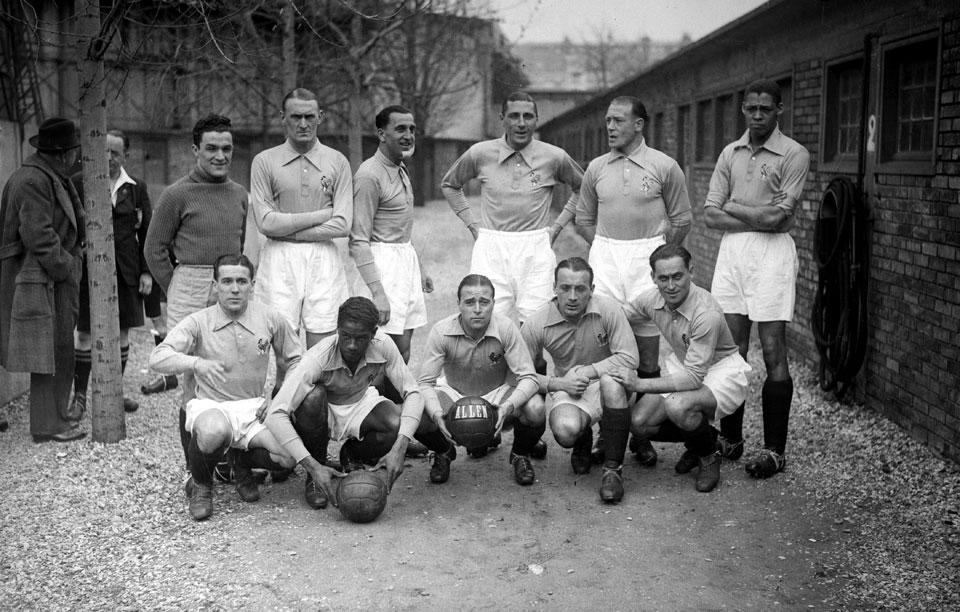 Сборная Франции по футболу в 1939 году.