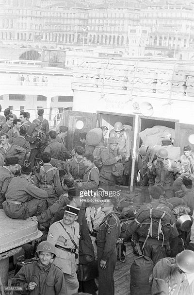Прибытие призывником на корабле Город Оран 14 июня 1956 Франсуа Паж илиПажес 5.jpg