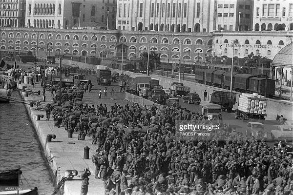 Прибытие призывником на корабле Город Оран 14 июня 1956 Франсуа Паж илиПажес 7.jpg