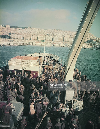 Прибытие призывником на корабле Город Оран Франсуа Паж илиПажес.jpg