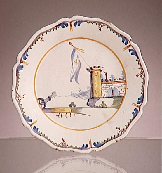 Взятие Бастилии тарелка 18 вЛимож Муз Адриана Дюбуше.jpg