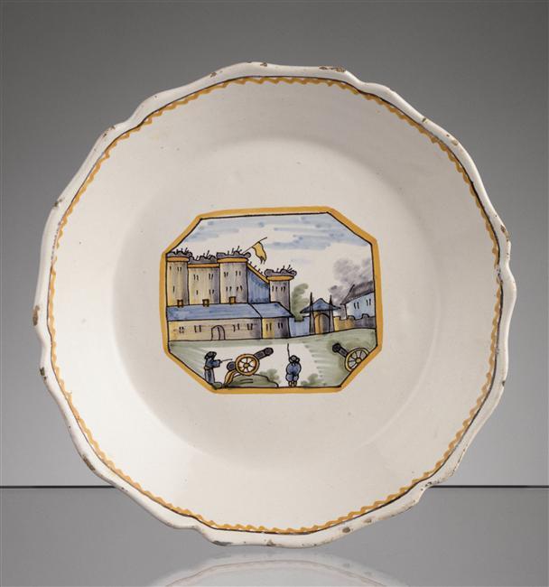 Взятие Бастилии тарелка 18 вЛимож Муз Адриана Дюбуше2.jpg