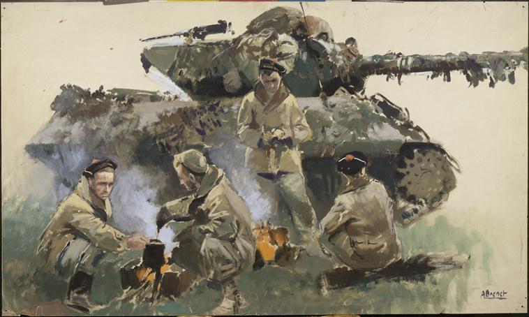 Морск пехотинцы со своим танком из 2 ДБ.jpg