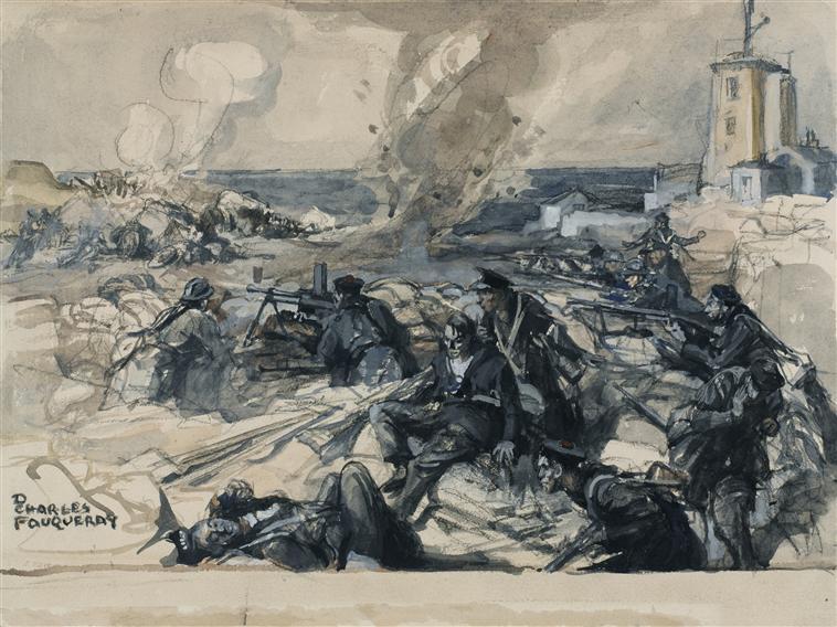 Атака маяка у Ла Манша 23 мя 1940 Д Ш Фукерэ.jpg