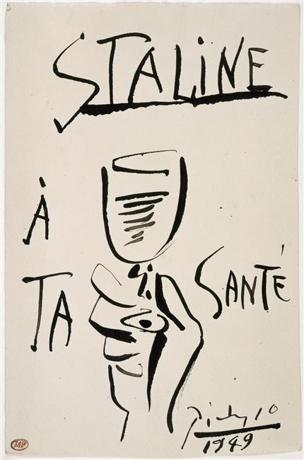 Сталин, за твое здоровье нояб 1949 Пикассо Муз Пикассо в Париже.jpg