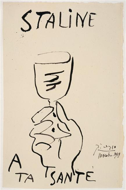 Сталин, за твое здоровье нояб 1949 Пикассо Муз Пикассо в Париже2.jpg