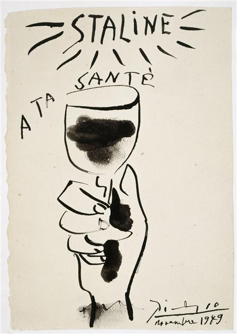 Сталин, за твое здоровье нояб 1949 Пикассо Муз Пикассо в Париже3.jpg