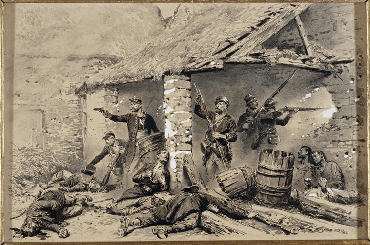 Защита камерона 30 апр 1863 Ж-Б-Э Детай Муз армии.jpg
