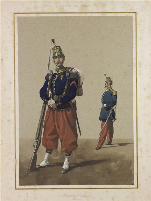 Легионеры 1861 Ш-Э Арман-Дюмареск Муз армии.jpg