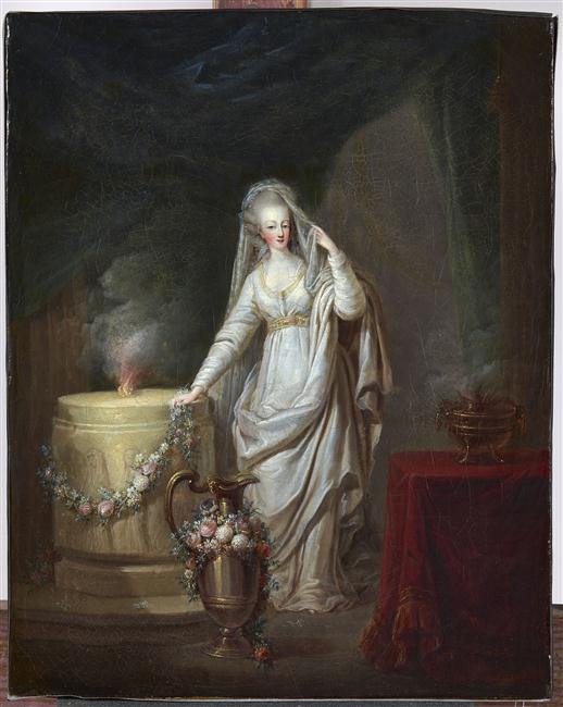 Мария Антуанетта весталка 1776 1778 Ш Леклерк Версаль.jpg