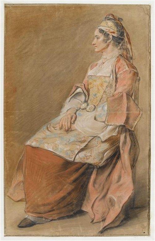 Рус крестьянка в праздн наряде 18 в Ж Б Лепринс Лувр.jpg