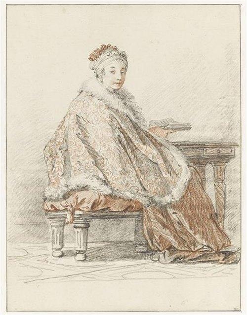Русская дама за столом с книгой 19 в Ж Б Лепренс Лувр.jpg