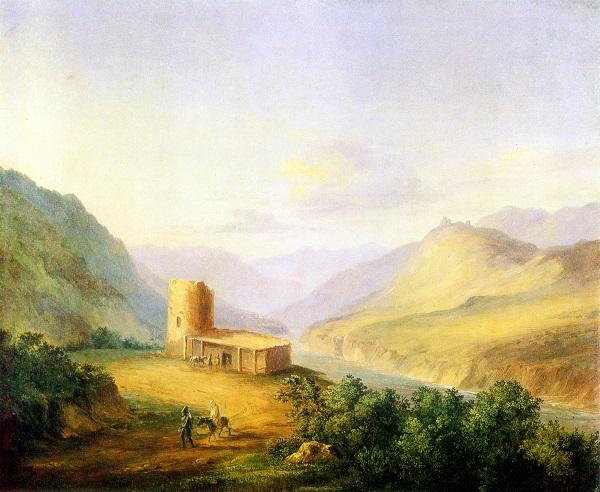 Лермонтов_ Военно-Грузинская дорога близ Мцхеты_ 1837.jpg