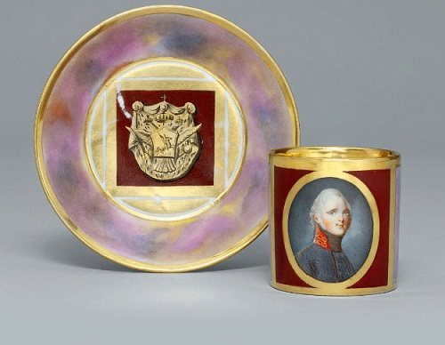 A cup and saucer with a portrait of Emperor Alexander I after G. Kugelgen-1.jpg