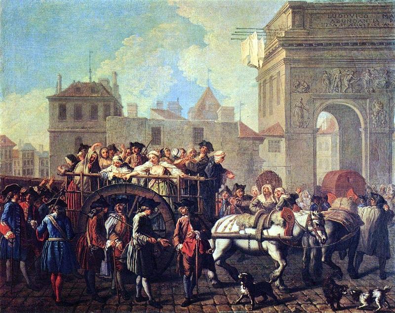 Препровождение проституток в Сальпетриер 1745 Э Жора карнавале.jpg