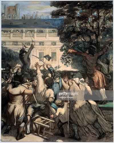 Демулен в Пале Рояле 1848 1849 О Домье ГМИИ.jpg