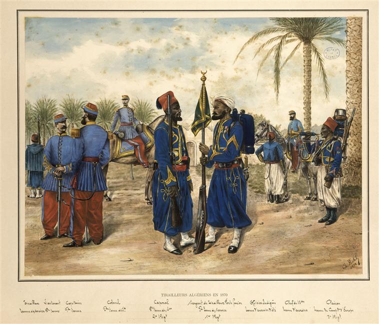 Алж стрелки в 1870 1898 Муз армии.jpg