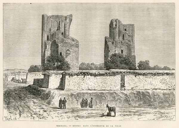 Бухара руины в городе 1881.jpg