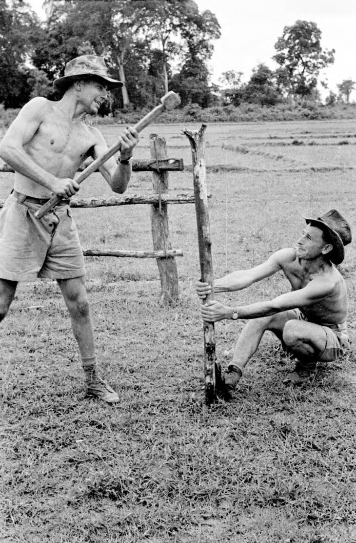 солдаты забивают сваи 1953.jpg