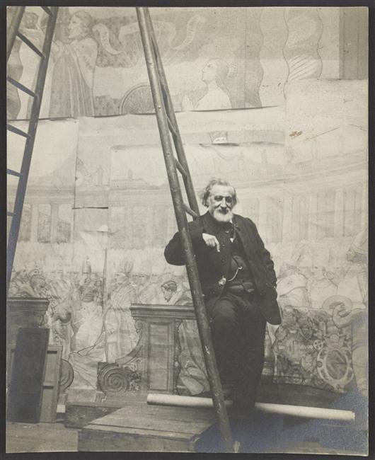 Шарль Ламер в своей мастерской после 1895 неиз.jpg