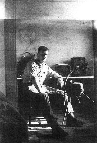 Зуав Баттю на посту июль 1960.jpg