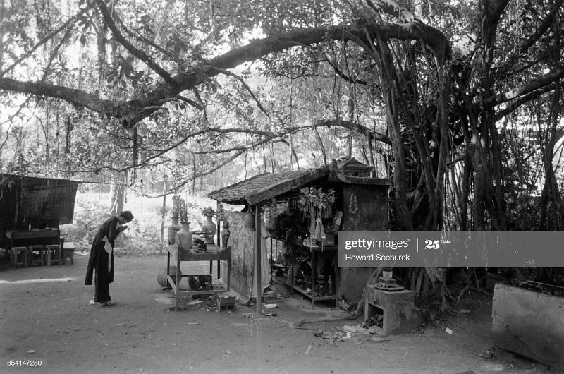 Женщина у откр храма в Ханое окт 1954 Говарх Сохурек.jpg