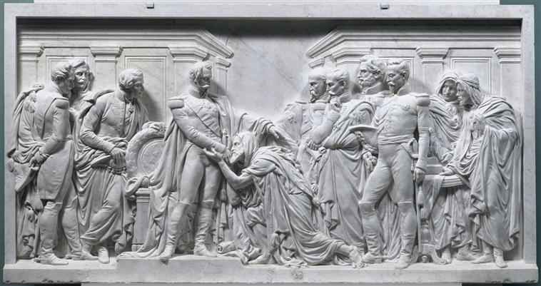Император принимает Абделькадера во дворце в Сен клу 1897 жан-батист карпё валансьен муз ИИ.jpg