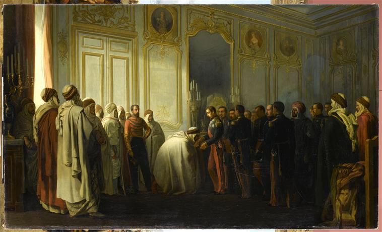 Главы арабов представляются принцу-президенту Эмир А К в Сен Клу 30 дек 1852 1852 Франсуа теофиль Этьен Гид Аяччо Музей ИИ.jpg